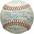 Autographs:Baseballs, Brooklyn & Los Angeles Dodgers Legends Signed Baseball from theCasey Stengel Collection, PSA Mint+ 9.5. When the notoriousl...