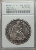 Seated Dollars, 1855 $1 -- Scratched -- ANACS. XF Details, Net VF20....