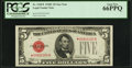 Small Size:Legal Tender Notes, Fr. 1528* $5 1928C Legal Tender Note. PCGS Gem New 66PPQ.. ...