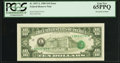 Error Notes:Third Printing on Reverse, Fr. 2027-L $10 1985 Federal Reserve Note. PCGS Gem New 65PPQ.. ...