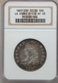 1807 50C Capped Bust, Large Stars, 50 Over 20, O-112, R.1, XF45 NGC....(PCGS# 39356)