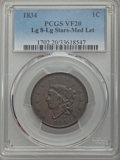 Large Cents, 1834 1C Large 8, Large Stars, Medium Letters, N-5, High R.4, VF20 PCGS....