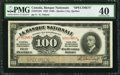 Canadian Currency: , Quebec City, QC- La Banque Nationale $100 November 2, 1922 Ch. #510-22-10S Specimen. ...