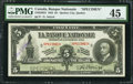 Canadian Currency: , Quebec City, QC- La Banque Nationale $5 November 2, 1922 Ch. #510-22-02S Specimen. ...