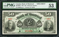 Canadian Currency: , Montreal, PQ- Bank of Montreal $50 Jan. 2, 1891 Ch. 505-40-08SSpecimen. ...