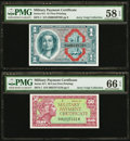 Military Payment Certificates:Series 611, Series 611 MPCs PMG Graded. . ... (Total: 2 notes)