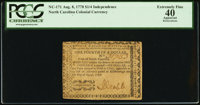 North Carolina August 8, 1778 $1/4 Independence PCGS Apparent Extremely Fine 40