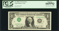 Error Notes:Inverted Third Printings, Fr. 1908-F $1 1974 Federal Reserve Note. PCGS Gem New 66PPQ.. ...