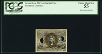 Milton 2E25F.6 Experimental 25¢ Second Issue PCGS Choice About New 55