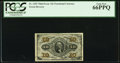Fractional Currency:Third Issue, Fr. 1255 10¢ Third Issue PCGS Gem New 66PPQ.. ...