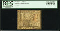 Colonial Notes:Delaware, Delaware January 1, 1776 5s PCGS Choice About New 58PPQ.. ...