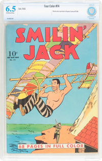 Four Color #14 Smilin' Jack (Dell, 1942) CBCS FN+ 6.5 Off-white to white pages