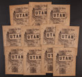 Books:Photography, [Utah]. Art Work of Utah. [Chicago]: 1896. First edition.... (Total: 11 Items)