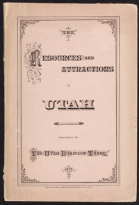 [Utah Board of Trade]. The Resources and Attractions of the Territory of Utah. [Omaha]: 1879. F