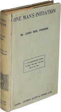 Books:Literature 1900-up, John Dos Passos. One Man's Initiation. London: [1920]. Truefirst edition.. ...