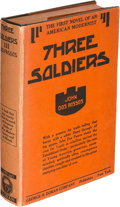 Books:Literature 1900-up, John Dos Passos. Three Soldiers. New York: [1921]. Firstedition, mixed state.. ...
