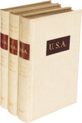 Books:Literature 1900-up, John Dos Passos. U. S. A. Boston: 1946. Limited edition,signed.... (Total: 3 Items)