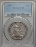 Seated Half Dollars: , 1889 50C XF45 PCGS. PCGS Population (11/148). NGC Census: (3/90). Mintage: 12,000. ...