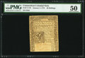 Colonial Notes:Connecticut, Connecticut January 2, 1775 40s PMG About Uncirculated 50.. ...