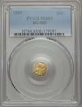 California Fractional Gold , 1859 50C Liberty Octagonal 50 Cents, BG-902, Low R.4, MS65 PCGS.PCGS Population (11/2). NGC Census: (7/3). ...