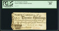 Colonial Notes:North Carolina, North Carolina March 9, 1754 20s PCGS Very Fine 35.. ...