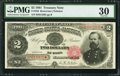 Large Size:Treasury Notes, Fr. 356 $2 1891 Treasury Note PMG Very Fine 30.. ...
