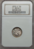 1908-O 10C MS64 NGC. NGC Census: (28/24). PCGS Population (25/40). Mintage: 1,789,000. CDN Wsl. Price for problem free N...