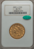 1895-O $10 AU55 NGC. CAC. NGC Census: (88/593). PCGS Population (104/390). Mintage: 98,000. From The Pennsylvania...(PCG...