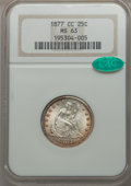 1877-CC 25C MS63 NGC. CAC. NGC Census: (88/148). PCGS Population (111/175). Mintage: 4,192,000. CDN Wsl. Price for probl...