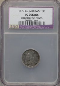 1873-CC 10C Arrows -- Improperly Cleaned -- NCS. VG Details