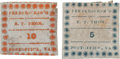 Miscellaneous:Ephemera, Early-war Confederate Provisional Stamps from Fredericksburg,Virginia....
