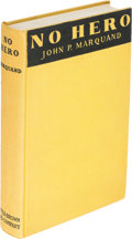 Books:Mystery & Detective Fiction, John P. Marquand. No Hero. Boston: 1935. First edition.. ...