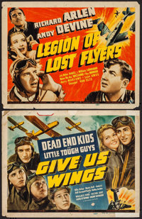 "Give Us Wings & Other Lot (Universal, 1940). Title Lobby Cards (2) (11"" X 14""). Adventure. ... (Total: 2 I..."