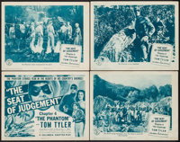 """The Phantom (Columbia, 1943). Lobby Card Set of 4 (11"""" X 14"""") Chapter 4 -- """"The Seat of Judgment."""" S..."""