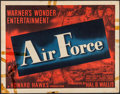 "Movie Posters:War, Air Force (Warner Brothers, 1943). Half Sheet (22"" X 28""). War....."
