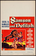 "Movie Posters:Adventure, Samson and Delilah (Paramount, 1949). Window Card (14"" X 22"").Adventure.. ..."