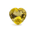 Gems:Faceted, Gemstone: Lemon Quartz - 10.61 Ct.. Brazil. 14.5 x 14.5 x 10mm. ...