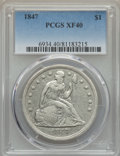 Seated Dollars: , 1847 $1 XF40 PCGS. PCGS Population (78/516). NGC Census: (37/431). Mintage: 140,750. CDN Wsl. Price for problem free NGC/PC...