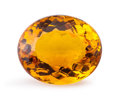Gems:Faceted, Gemstone: Citrine - 31.7 Ct.. Brazil. 23.1 x 19.15 x 12.2 mm. ...