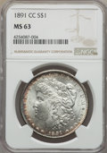 1891-CC $1 MS63 NGC. NGC Census: (1654/1302). PCGS Population (5265/4125). Mintage: 1,618,000. CDN Wsl. Price for proble...