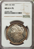 1891-CC $1 MS61+ Prooflike NGC. NGC Census: (24/242 and 1/3+). PCGS Population (56/470 and 0/6+). ...(PCGS# 7207)