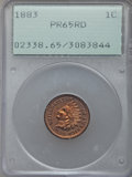Proof Indian Cents: , 1883 1C PR65 Red PCGS. PCGS Population (18/5). NGC Census: (10/5). Mintage: 6,609. CDN Wsl. Price for problem free NGC/PCGS...