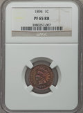 Proof Indian Cents: , 1894 1C PR65 Red and Brown NGC. NGC Census: (42/11). PCGS Population (38/3). Mintage: 2,632. CDN Wsl. Price for problem fre...