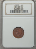 Proof Indian Cents: , 1887 1C PR65 Red and Brown NGC. NGC Census: (48/15). PCGS Population (60/11). Mintage: 2,960. CDN Wsl. Price for problem fr...