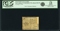 New London, CT - Union Bank in New London 1 Penny August 6, 1792 Newman page 115, Haxby CT-320 UNL. PCGS Fine 15 Apparen...