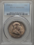 1948-D 50C MS66 Full Bell Lines PCGS. PCGS Population (198/5). NGC Census: (50/0). CDN Wsl. Price for problem free NGC/P...