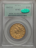 Liberty Eagles: , 1847-O $10 XF40 PCGS. CAC. PCGS Population (130/313). NGC Census: (85/810). Mintage: 571,500. CDN Wsl. Price for problem fr...
