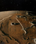 Pulp, Pulp-like, Digests, and Paperback Art, Chesley Bonestell (American, 1888-1986). The Straight Wall.Oil on board. 12.5 x 10.5 in. (sight). Signed lower right. ...