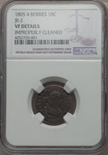 Early Dimes, 1805 10C 4 Berries, JR-2, R.2, -- Improperly Cleaned -- NGC. VF.NGC Census: (9/186). PCGS Population (1/8). Mintage: 120,7...