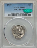 Buffalo Nickels, 1919 5C Doubled Die Obverse, FS-101, MS64 PCGS. CAC. PCGS Population (1/0). Mintage: 60,868,000. ...